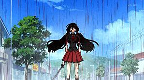 Blood-c, pluie de sang.