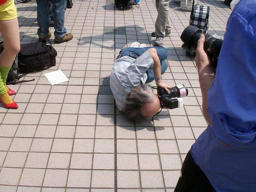 Photographe au Comiket.