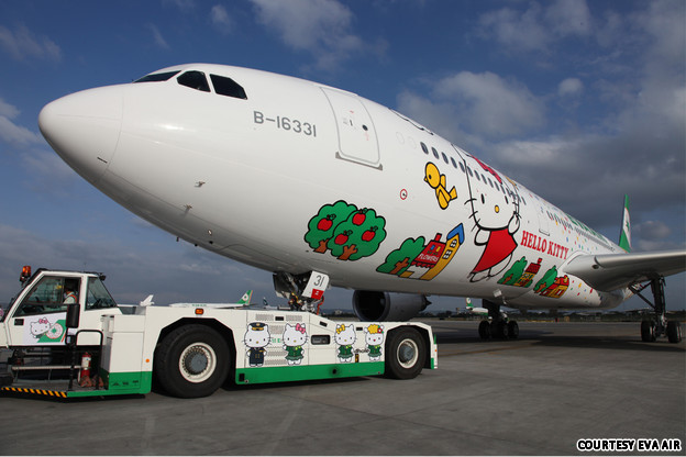 Hello Kitty Avion, Eva Air.