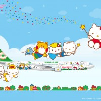 HelloKitty x Eva Air Walpaper 1