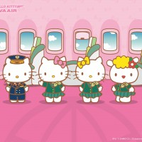 HelloKitty x Eva Air Walpaper 2