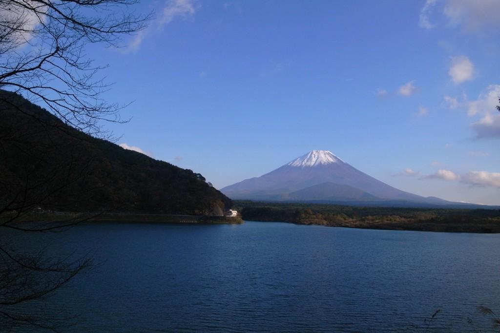 Lac Shouji, regard sur le mont Fuji.