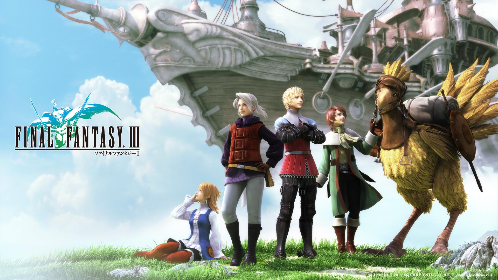Final Fantasy III, et remix d'»Eternal Wind» par les fans.