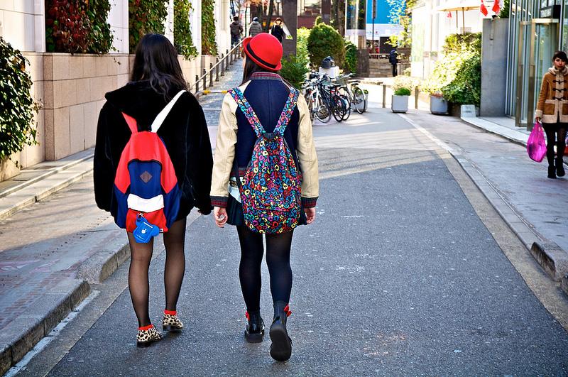 Marche dans les rues de Tokyo