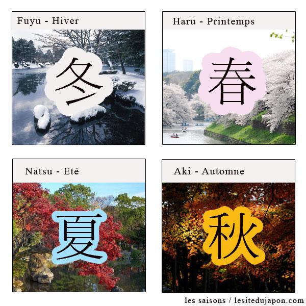 Les saisons en japonais