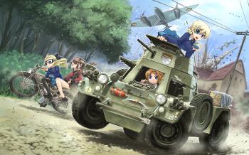 Girl und Panzer wp 15