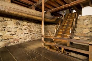 Intérieur en bois, chateau d'inuyama