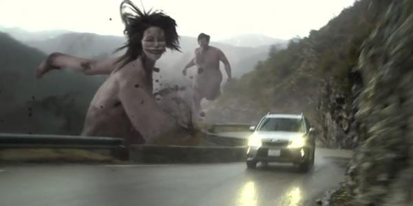 Subaru X attaque des titans