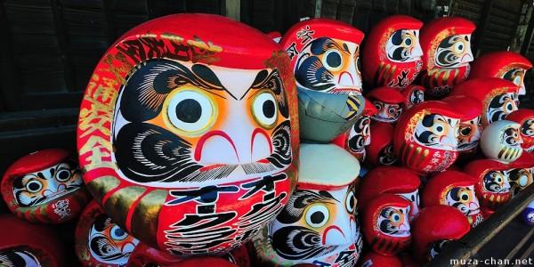 Les darumas, un porte-bonheur à la japonaise.