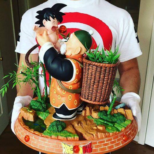 San Gohan avec San Goku bebe figurine