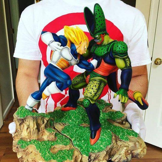 Vegeta vs Cell figurine