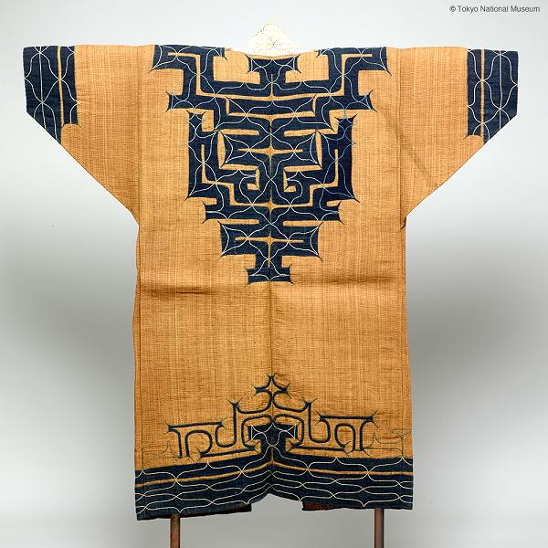 Attushi, vue de dos, Tokyo National Museum.