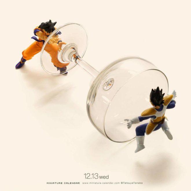 Calendrier miniature Tatsuya Tanaka san goku versus Vegeta